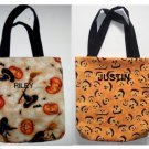 PERSONALIZED  Fabric Tote Book Bag for HALLOWEEN!!