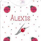 PERSONALIZED TODDLER/YOUTH TEE SHIRT  - LADYBUGS !!
