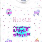 PERSONALIZED ONESIE FOR THE NEW BABY SISTER!!