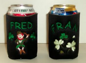 PERSONALIZED Irish Beer Koozie for ST. PATRICK'S DAY!!