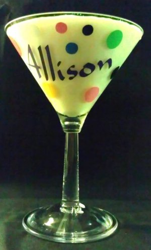 PERSONALIZED Glass OR Acrylic MARTINI Glass!!  Drink with style!