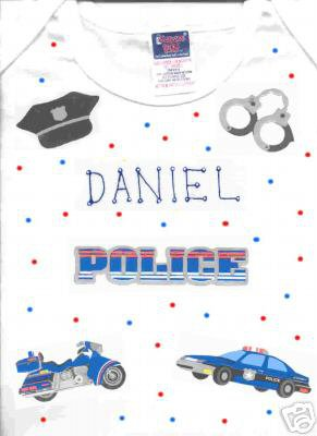 PERSONALIZED TEE SHIRT  - POLICE!!