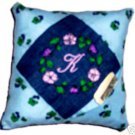 MONOGRAMED Denim Flowered tooth fairy pillow!