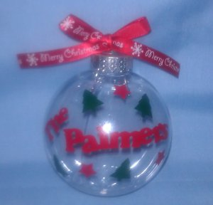 Personalized fillable unbreakable Christmas Ornament - you can design your own!!