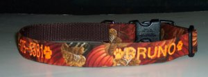 PERSONALIZED ID DOG COLLAR for Thanksgiving!!!