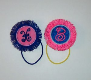 PERSONALIZED Unique Fringed PONY TAIL HOLDER  Adorable!