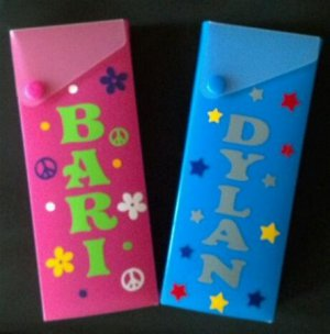 PERSONALIZED School Pencil Crayon Box - Design Your Own!!