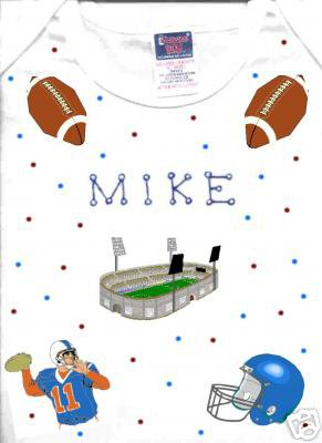 PERSONALIZED  ONESIE  FOR THE FOOTBALL FAN!!