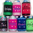 PERSONALIZED Koozie  Cover WITH Swarovski BLING!!!