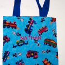 PERSONALIZED Tote School Book Bag - TRAINS!