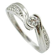14K White Gold Diamond Multi Stone Ring - You Save $1,182.85