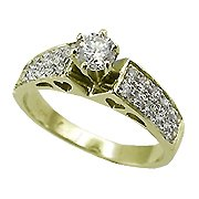 14K Yellow Gold Diamond Engagement Ring - You Save $2,360.53