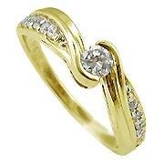 14K Yellow Gold Diamond Multi Stone Ring - You Save $1,182.95