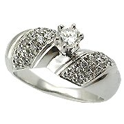 18K White Gold Diamond Engagement Ring - You Save $2,557.70