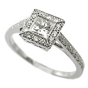 18K White Gold Diamond Multi Stone Ring - You Save $2,996.66