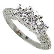 18K White Gold Diamond Multi Stone Ring - You Save $5,156.16
