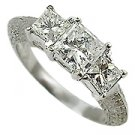 18K White Gold Diamond Multi Stone Ring - You Save $5,608.41