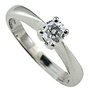 18K White Gold Diamond Solitaire Ring - You Save $1,161.62