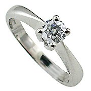 18K White Gold Diamond Solitaire Ring - You Save $2444.13