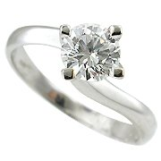 18K White Gold Diamond Solitaire Ring - You Save $4,866.47