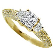 18K Yellow Gold Multi Stone Ring - You Save $3,200.01