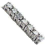 18K White Gold Tennis Bracelet - You Save $5,996.19