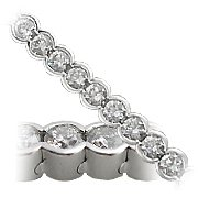 18K White Gold Tennis Bracelet - You Save $22,570.50
