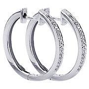 18K White Gold Hoop Earrings - You Save $957.00