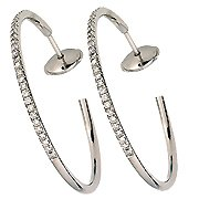 18K White Gold Hoop Earrings - You Save $2,595.35