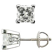 18K White Gold Scrollwork Style Stud Earrings - You Save $16,109.20