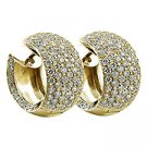 18K Yellow Gold Diamond Hoop Earrings - You Save $15,203.08