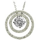 14K White Gold Diamond Drop Pendant - You Save $4,289.20