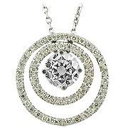 14K White Gold Diamond Drop Pendant - You Save $4,289.20