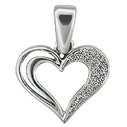 14K White Gold Diamond Heart Pendant - You Save $633.08