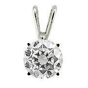 14K White Gold Diamond Solitaire Pendant - You Save $2,371.67
