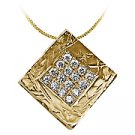 14K Yellow Gold Drop Pendant - You Save $852.33