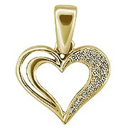14K Yellow Gold Heart Pendant - You Save $633.26