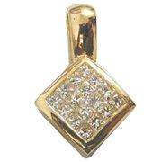 18K Yellow Gold Diamond Drop Pendant - You Save $3,330.49