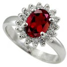 14K White Gold Ruby/Diamond Fashion Ring - You Save $807.48