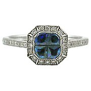 14K White Gold Sapphire/Diamond Multi Stone Ring - You Save $2,015.02
