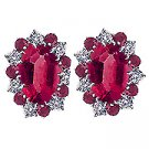 18K White Gold Ruby/Diamond Earrings - You Save $4,726.99