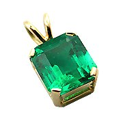 18K Yellow Gold Emerald Pendant - You Save $7,140.60