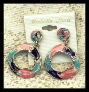 Michelle Scott Earrings Seventies Mod Style Earrings