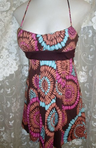 HIPPIE HALTER TOP BY LOVE MULTICOLOR SIZE SMALL GORGEOUS EUC