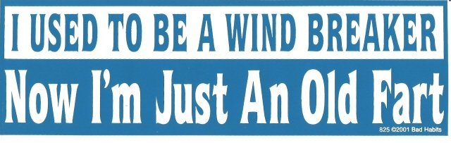 I USED TO BE A WINDBREAKER Now I'm Just An Old Fart Bumper Sticker