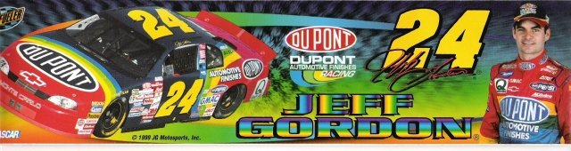 JEFF GORDON #24 Bumper Sticker