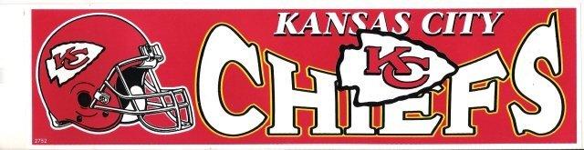 KANSAS CITY CHIEFS Bumper Sticker