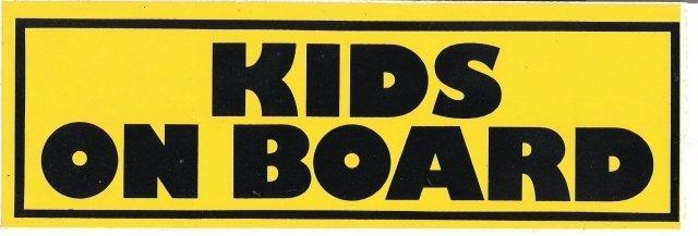 KIDS ON BOARD Bumper Sticker