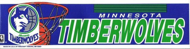 MINNESOTA TIMBERWOLVES Bumper Sticker