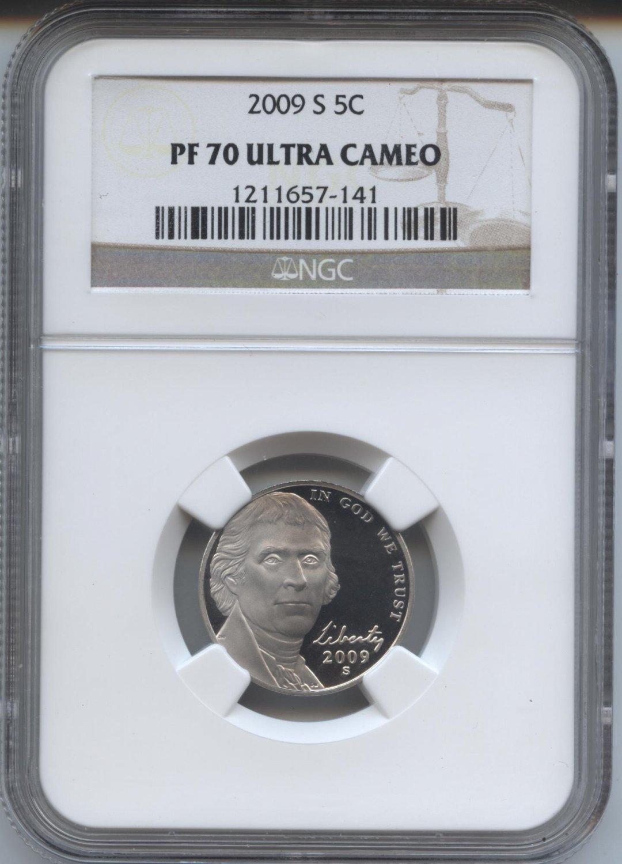 2009 proof 70 ultra cameo jefferson nickel